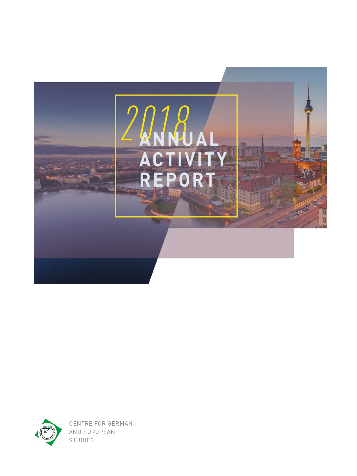 CIGE Annual report 2018 coverpage